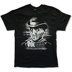"Adult Volbeat ""Bart Tour 2014"" Black T-Shirt (Medium)"