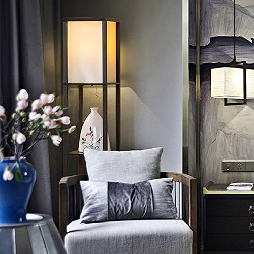 Oneach Modern Shelf Floor Lamp With Open-Box Shelves