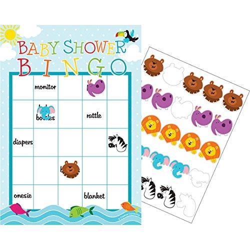 Creative Converting Noahs Ark Baby Shower Bingo Game ()