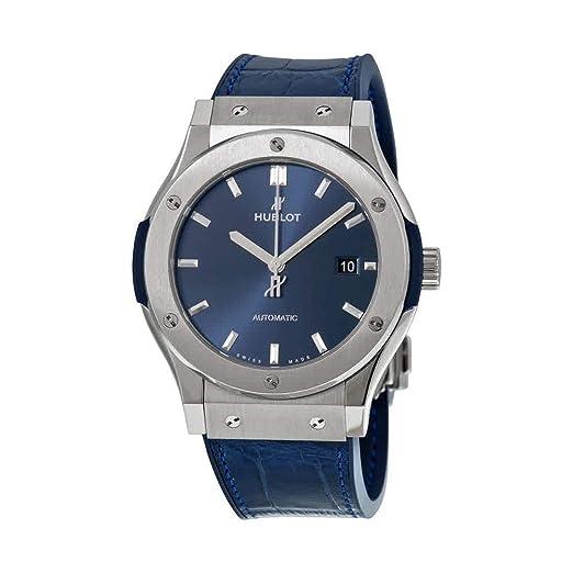 Hublot Classic Fusion automático azul Dial Azul Cuero Mens Reloj 542. NX. 7170. LR: Amazon.es: Relojes