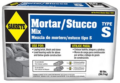(SAKRETE of North America 65302880 Type S Mortar Mix, 80 lb)