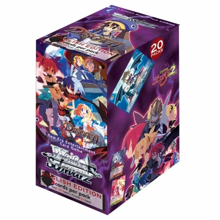 Weiss Schwarz Disgaea TCG Card Game Booster Box English Version - 20 packs / 8 cards from Weiss Schwarz