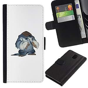 NEECELL GIFT forCITY // Billetera de cuero Caso Cubierta de protección Carcasa / Leather Wallet Case for Samsung Galaxy Note 3 III // Nieve Yeti