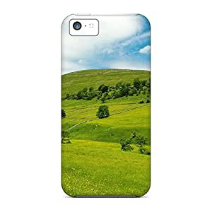 First-class Case Cover For Iphone 5c Dual Protection Cover Green Fields