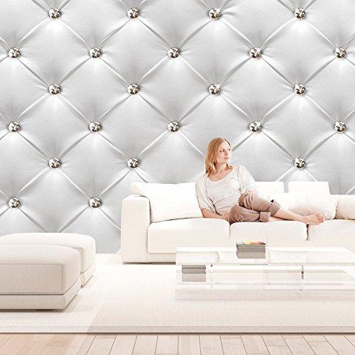 Vlies Fototapete 500x280 cm - Top - Tapete - Wandbilder XXL - Wandbild - Bild - Fototapeten - Tapeten - Wandtapete - Wand - Leder weiß modern f-B-0040-a-a