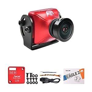RunCam Eagle 2 FPV Camera 4:3 FOV Global WDR 800TVL 5-36V 2.5mm Lens Aluminium NTSC PAL True Starlight For Drone Quadcopter (Red)