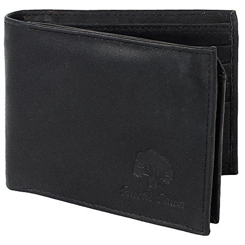 Women Fashion Leather Bifold Wallet (Black) - 2