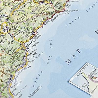 Mapa en relieve de Andalucía: Escala 1:2.400.000: Amazon.es: All 3D Form, S.L.: Libros