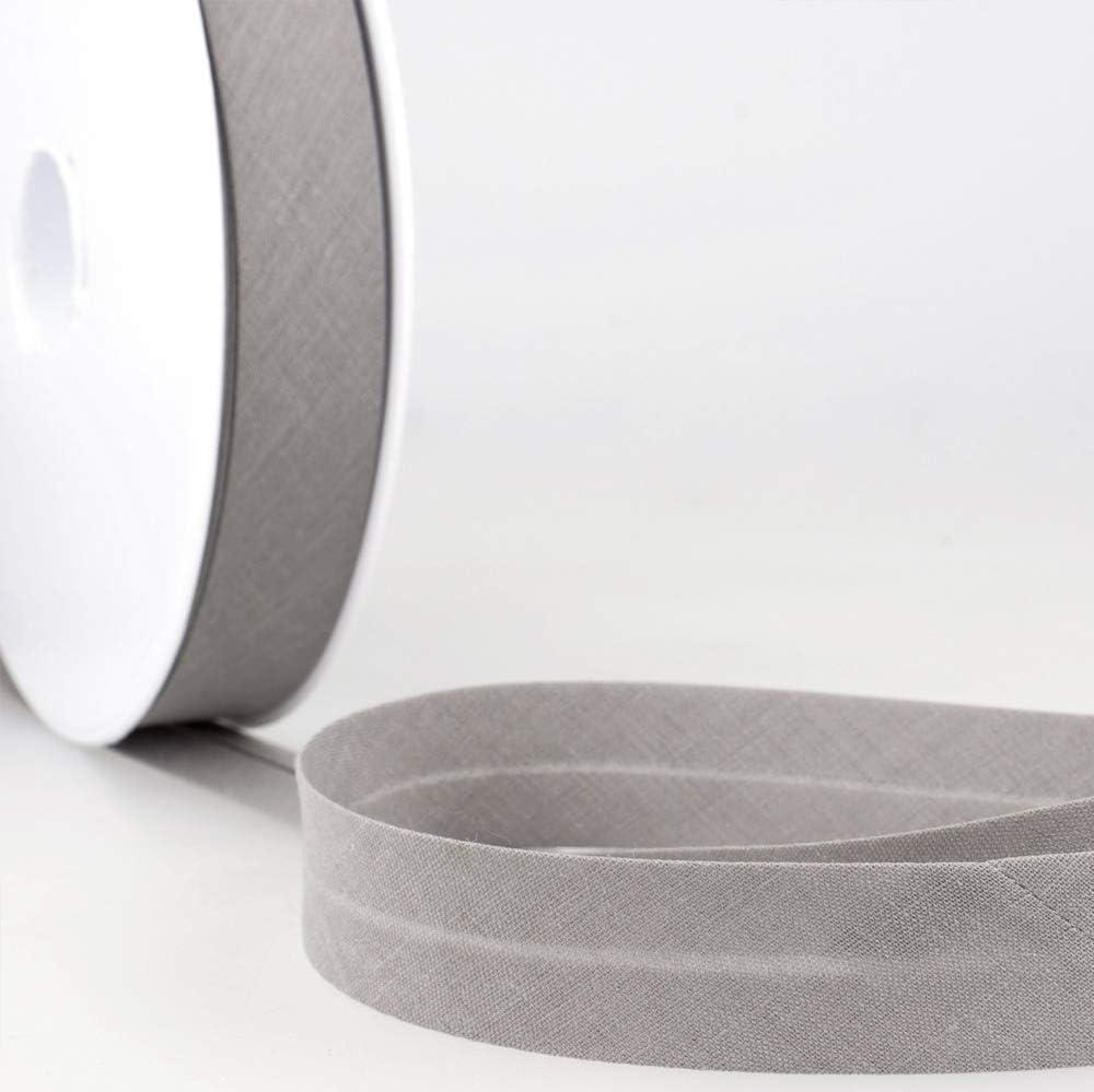 color gris 20 mm de ancho, mediano Cinta al bies Stephanoise