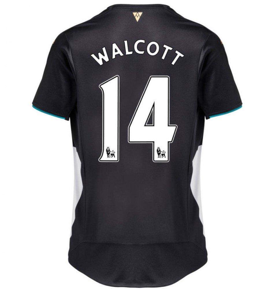2015-2016 Arsenal Third Cup Football Soccer T-Shirt Trikot (Theo Walcott 14)