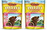 Zukes Mini Naturals QKiBE Healthy Moist Training Treats, Pork, 1 Pound (2 Pack)