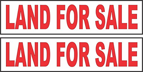 Hot 2 - 6x24 LAND FOR SALE Real Estate Rider Sign Red supplier