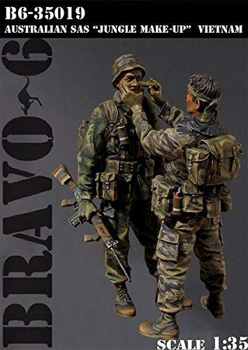 Bravo6 1/35 Scale Jungle Make-up Australian SAS Vietnam'68 Unpainted Figures - - Jungle Sas