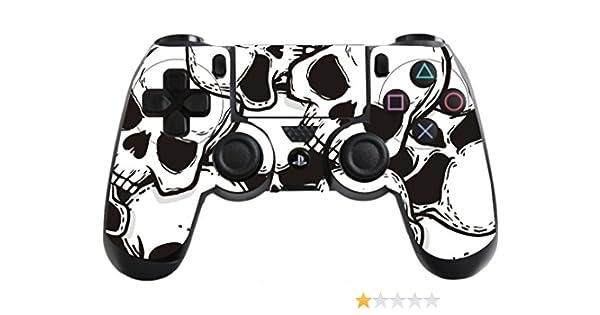 The Grafix studio Skulls Playstation 4 (PS4) - Pegatina para Controlador de Calavera, diseño de Calaveras: Amazon.es: Hogar
