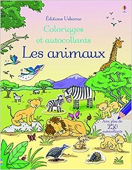 Coloriage Famille Africaine.Les Animaux Coloriages Et Autocollants Amazon Fr Jessica