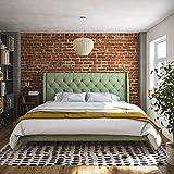 Novogratz Her Her Majesty Bed, King, Light Green