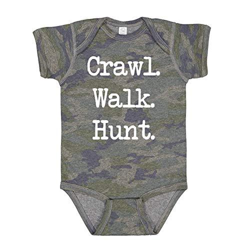(Mashed Clothing Crawl. Walk. Hunt. - Baby Bodysuit (Vintage Camo 12 Months))