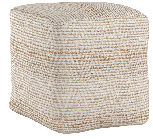 Christopher Knight Home Bella Ivory Fabric Pouf by Christopher Knight Home