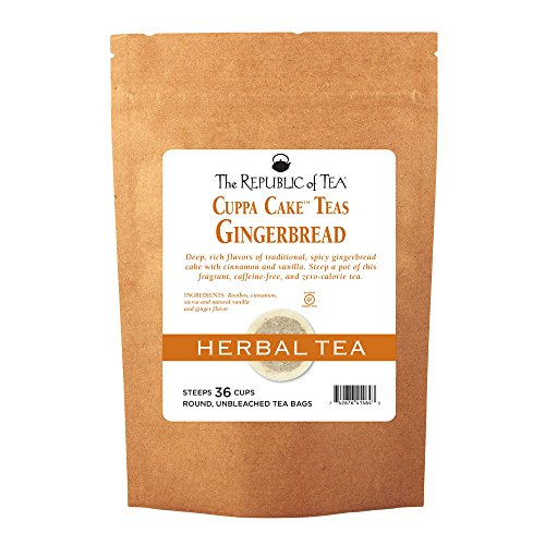 - The Republic Of Tea Gingerbread Cuppa Cake Tea, 36 Tea Bag Refill