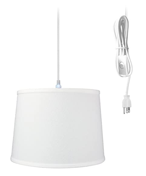 plug in pendant light by home concept hanging swag lamp white drum rh amazon com Modern Swag Lamps Swag Lamps with Chain and Plugs in Outlet