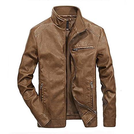 Hombre y niños chaqueta piel Delgado otoño,Sonnena ⚽ hombre ...