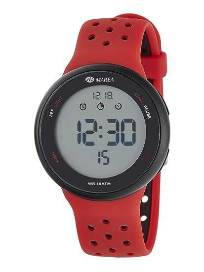 Reloj Marea Digital Hombre B44098/6 Correa Silicona Rojo y Negro: Amazon.es: Relojes