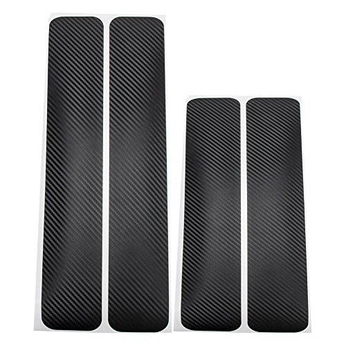 Universal Door Sill Protector - 4PCS Car Accessories Door Sill Scuff Welcome Pedal Protect Carbon Fiber Stickers