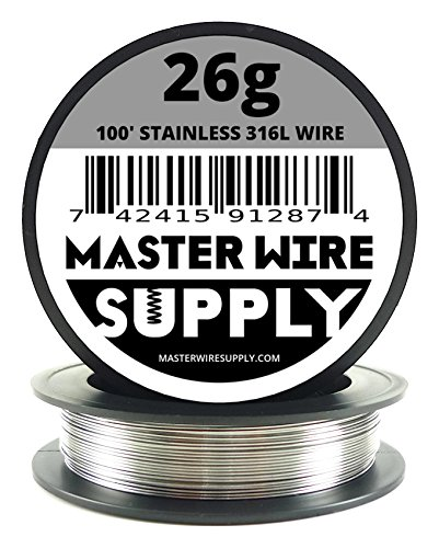 Stainless Steel 316L - 100' - 26 Gauge Wire (Best Vapes For Clouds Cheap)