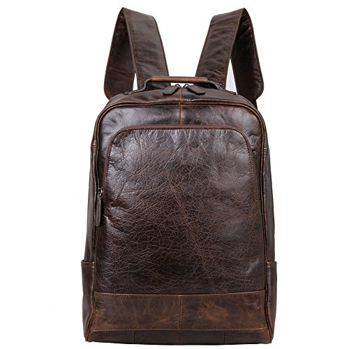 d6859adf351 Berchirly Men Leather Backpack Travel Bag Fashion Shoulder Bag Rucksack  Coffee by Berchirly
