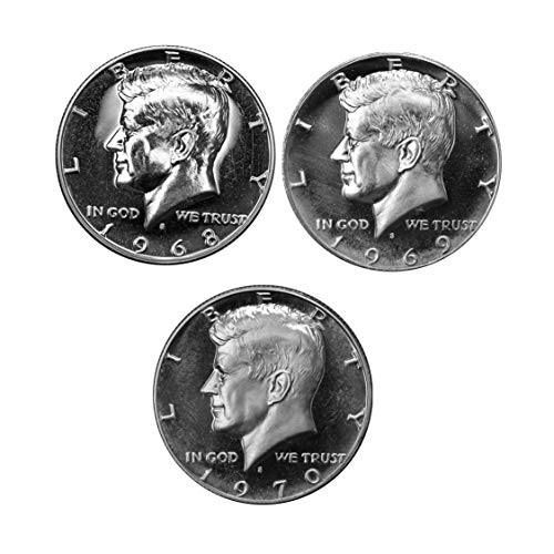 1968-1970 S Proof Kennedy Half Dollar run 3 Coin Set 40% Silver