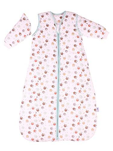 Saco de dormir para bebé Slumbersac con Mangas Largas REMOVIBLES - Búho, 2.5 Tog, 3-6 años