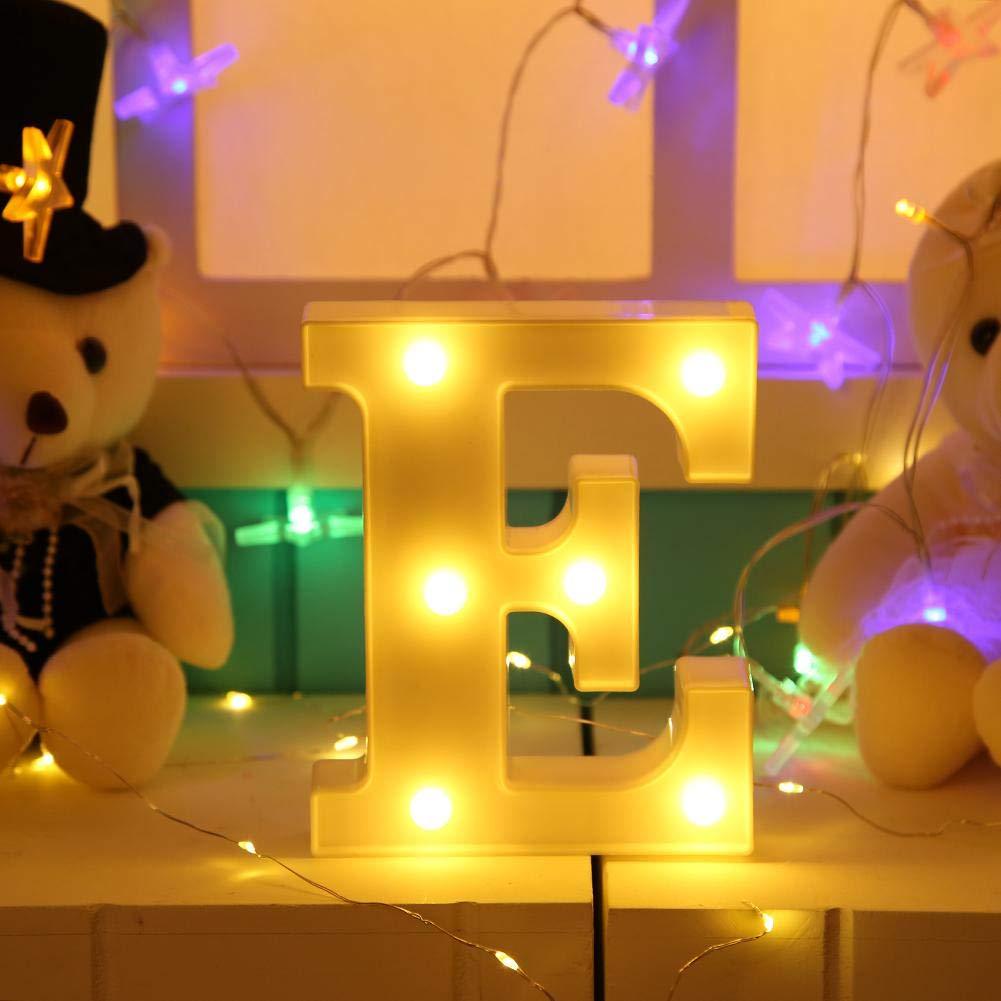 Domybest Lettre LED Lumineuse Alphabet Lumi/ère LED D/écoration Veilleuse Lampe D/écorative dambiance pour Mariage No/ël Anniversaire Petit Y
