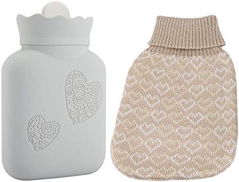 Jadeshay Wärmflasche Klein - Wärmflasche Kühler mit bezug in Mikrowelle geeignet, Silikon, Klein/Groß (Size : Large)