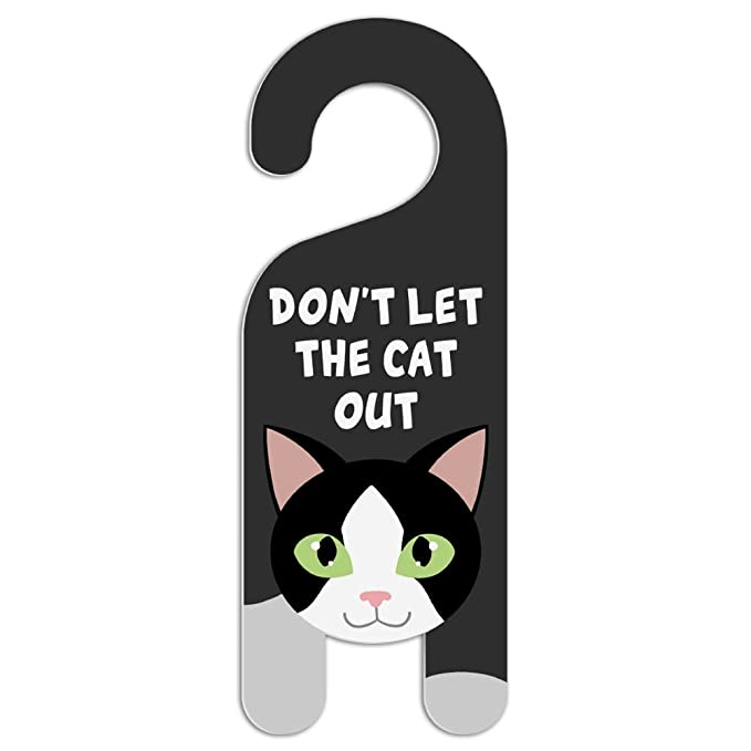 Amazon.com: Cartel de plástico para perilla de puerta ...