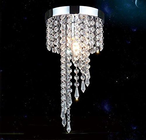 (Modern Mini Crystal Ceiling Light Fixture Crystal Chandelier Pendant Lights for Hallway Porch)