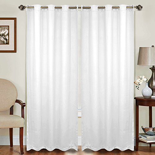Maison 2 Light (Maison Decor Thermal Insulated Blackout Panel Curtain, 52 By 84 Inch, Set of 2 Panel (52