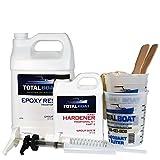 resin and fiberglass - TotalBoat 5:1 Epoxy Resin Kits (Gallon, Fast Hardener)