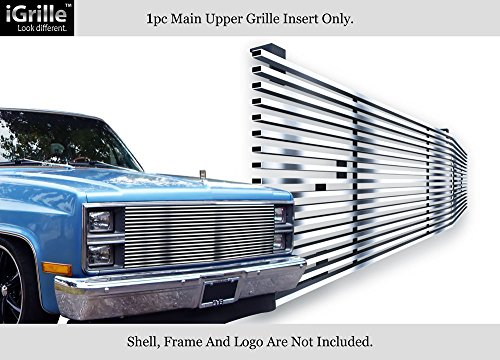 APS 304 Stainless Chrome Billet Grille Fits 1981-87 Chevy C/K Pickup/Suburban/Blazer #C85002S ()