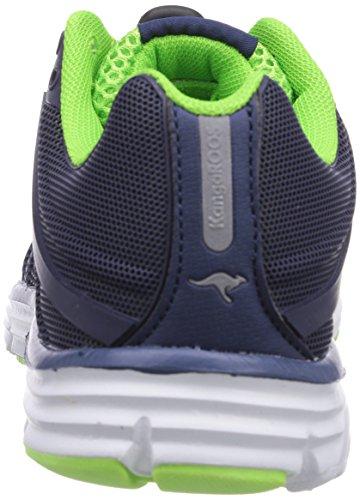 KangaROOS KangaTech 2081 - zapatilla deportiva de material sintético infantil azul - Blau (dk navy/lime 481)