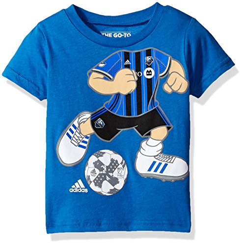 Adidas Soccer Short Sleeve Tee - MLS Montreal Impact Boys -Dream Job Soccer Player Short Sleeve Tee, Strong Blue, 3T