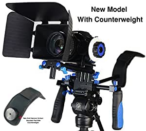 Morros DSLR Rig Movie Kit Shoulder Mount Rig with Follow Focus and Matte Box for All DSLR Cameras and Video Camcorders