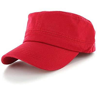 Red_(US Seller)Military Style Caps Hat Unizex Bucket