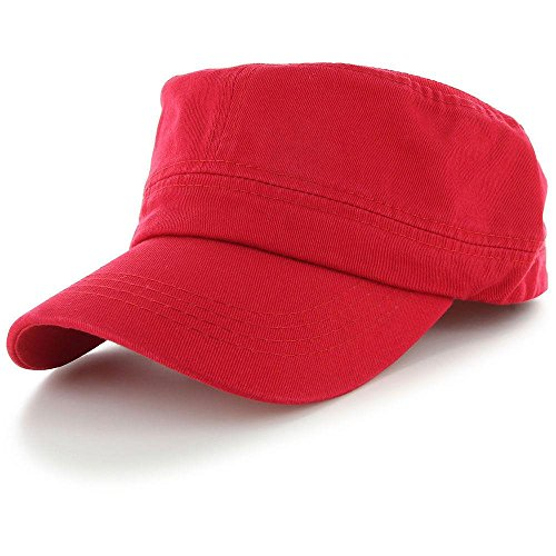 Retainer Headgear Costume (Red_(US Seller)Military Style Caps Hat Unizex)