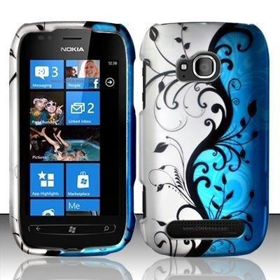 Blue Vine Hard Protector Faceplate Cover Phone Case for Nokia Lumia -