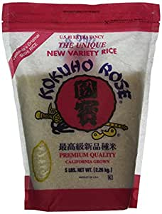 Amazon.com : Kokuho Rice Sushi, 5 Lb : Dried White Rice