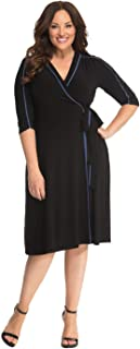 product image for Kiyonna Women's Plus Size Harper Wrap Dress