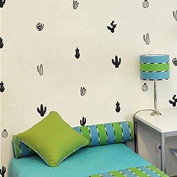 16 Stück Sticker Wand Kakteen für Kinder Schlafzimmer Wohnzimmer ...