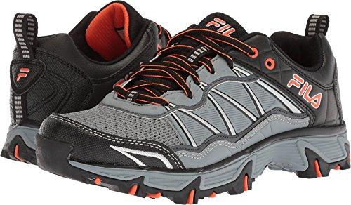 Cheap Fila Men's at Peake 19 Trail Running Shoe, Monument/Dark Shadow/red Orange, 9.5 Medium US