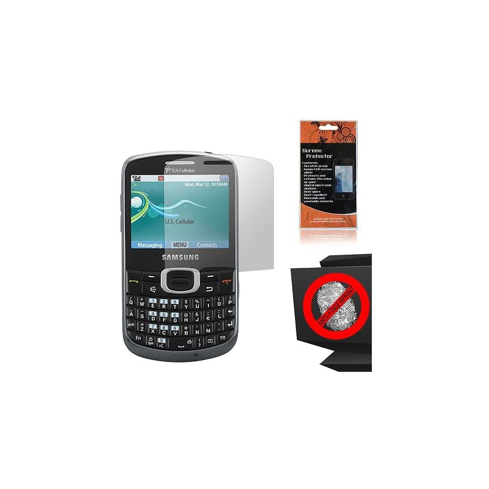 Anti Glare Screen Protector for Samsung Comment 2 Freeform 4 SCH R390 Cell Phones & Accessories