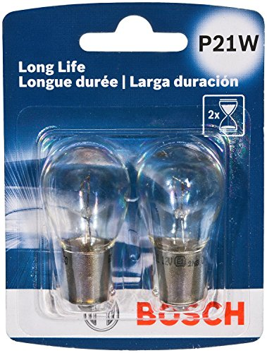 Bosch P21W Long Life Upgrade Minature Bulb, Pack of 2